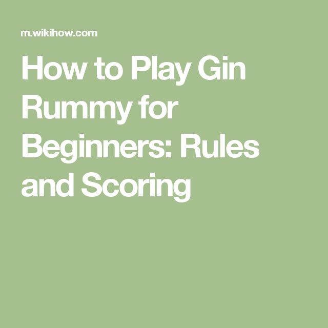 scoring for gin rummy