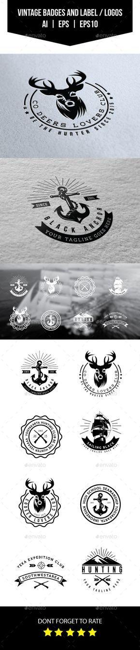 Vintage Badges and Labels / Logos - Badges & Stickers Web Elements