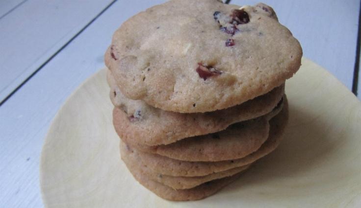 Prinsesseliv: Cookies med tranebær, hvid chokolade og lakrids