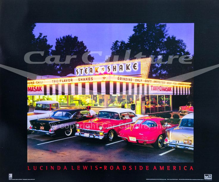 Classic Chevys at Steak n Shake in Springfield, Missouri Poste