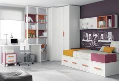 Dormitorio infantil juvenil moderno, 43-29