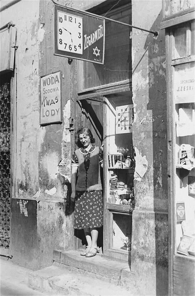Warsaw Ghetto street in summer 1941, shot by German soldier Willy Georg