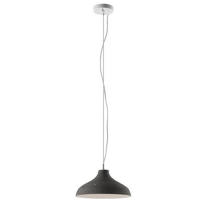 Kave Casey Pendant Hanglamp grijs - De Kave Casey Pendant Hanglamp is vervaardigd uit gegalvaniseerd metaal en voorzien van een grijze katoenen lampenkap van touw. Een bijzondere lamp door de uit touw bestaande lampenkap. De stijlvolle hanglamp van Kave Home biedt voldoende verlichting voor boven een eettafel of in de woonkamer. Bovendien is de Casey Pendant Hanglamp ook verkrijgbaar in een uitvoering met een witte/beige lampenkap.
