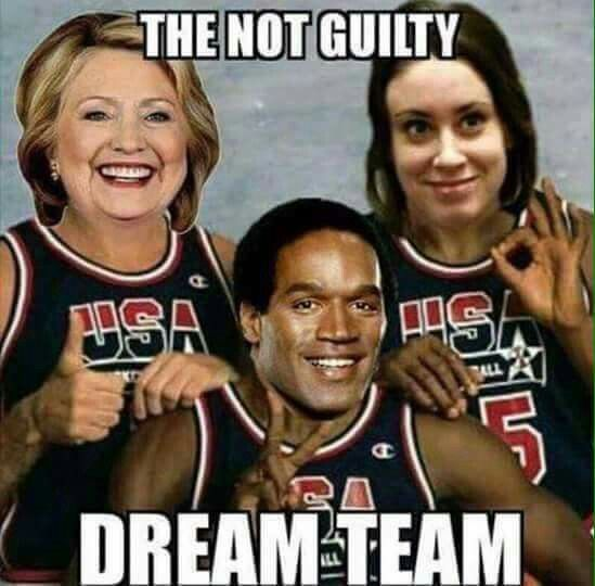 Hilary clinton,  oj Simpson and a monster who is worse than the first two miss casey the child murderer anthony