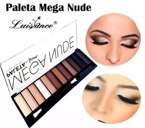 paleta sombras neutras fosca mega nude luisance = naked