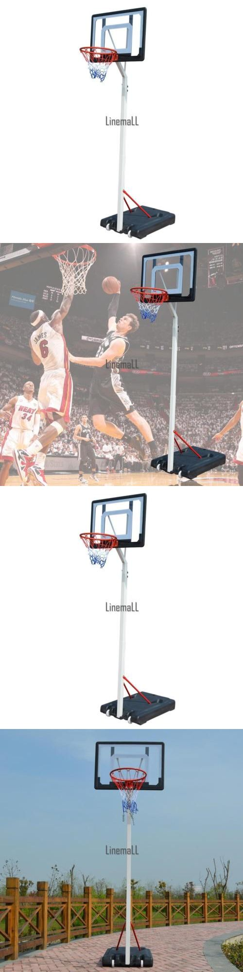 Rims and Nets 158962: Adjustable Portable Height Basketball System Hoop Backboard Rim Sports System -> BUY IT NOW ONLY: $108.75 on eBay!
