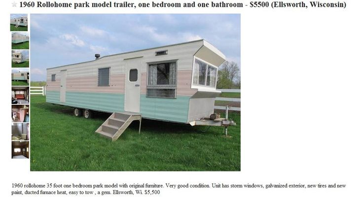 vintage moble homes | Vintage 1960 Time Capsule Rollohome Mobile Home Trailer For Sale! | No ...