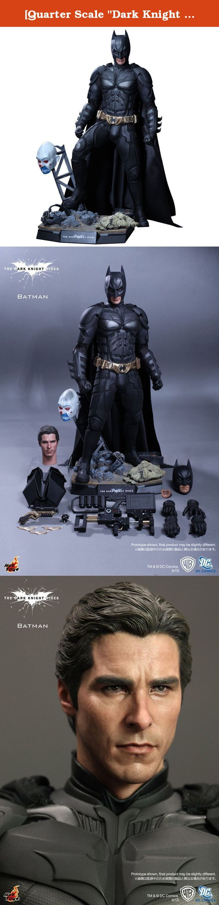 "[Quarter Scale ""Dark Knight Rising"" 1/4 scale figure Batman (japan import). Sideshow Hot Toys Dark Knight Rises 1/4 Scale Batman Collectible Figure."