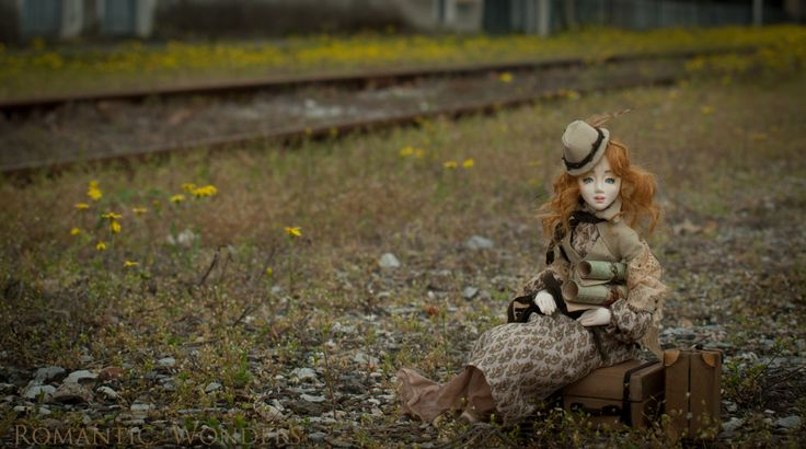 ''Pretty Voyager'' a handmade ooak doll by Romantic Wonders rwdolls.com
