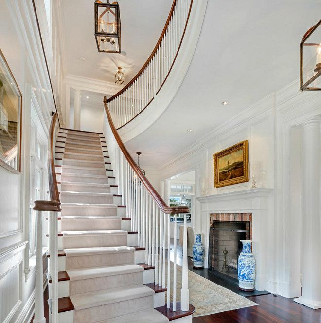 Floating Staircase Ideas: Classic Shingle Style Home For Sale Homebunch.com