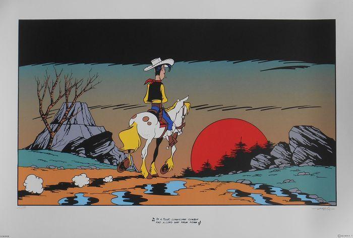 Morris - Zeefdruk Lucky Luke - I'm a poor lonesome cow-boy and a long way frome home - (1999) - W.B.