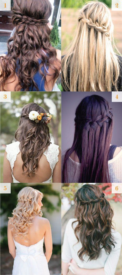 waterfall braids for a wedding. I especially like the bottom two
