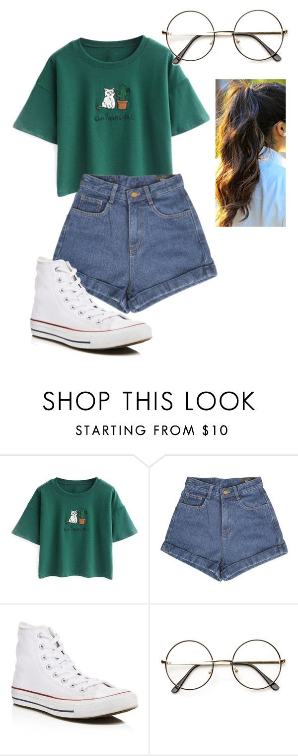 """Saturday"" by spiritxxmagic ❤ liked on Polyvore featuring Chicnova Fashion and Converse"
