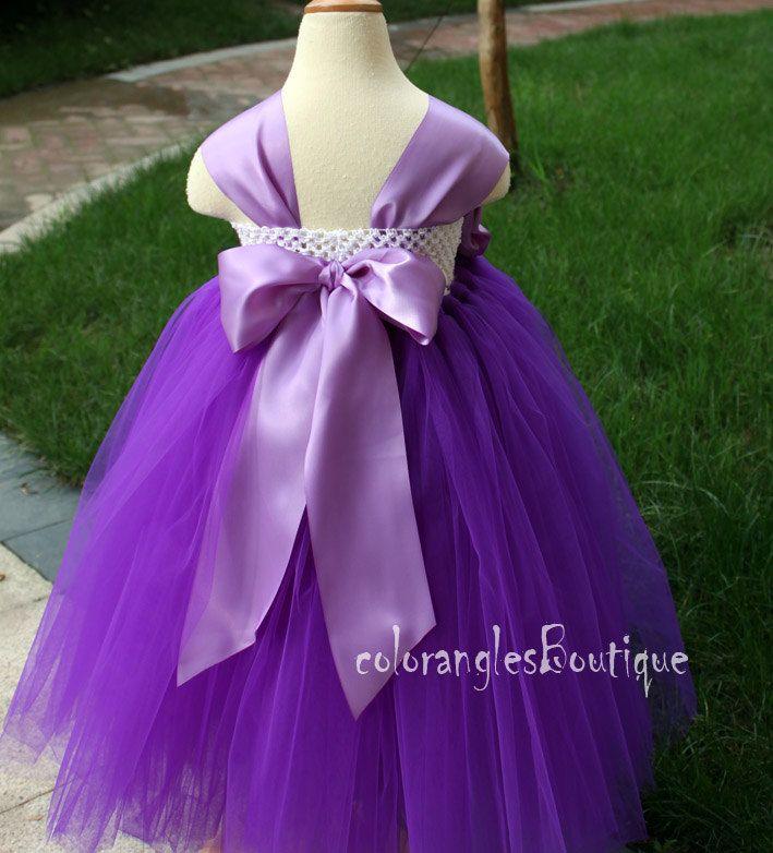 purple tutu flower girl dresses - Google Search