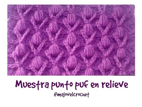 Muestra punto puff en relieve #tutorial