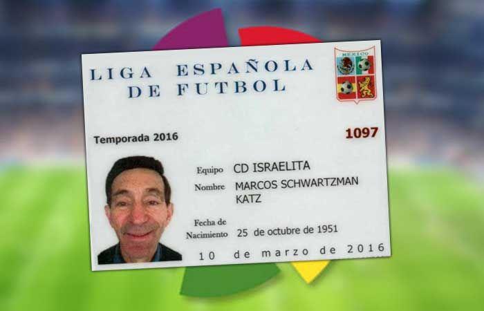 Nuestro colaborador y amigo Marcos Schwartzman recibe su registro como jugador de la prestigiosa Liga Española de Fútbol - http://diariojudio.com/comunidad-judia-mexico/nuestro-colaborador-y-amigo-marcos-schwartzman-recibe-su-registro-como-jugador-de-la-prestigiosa-liga-espanola-de-futbol/169915/