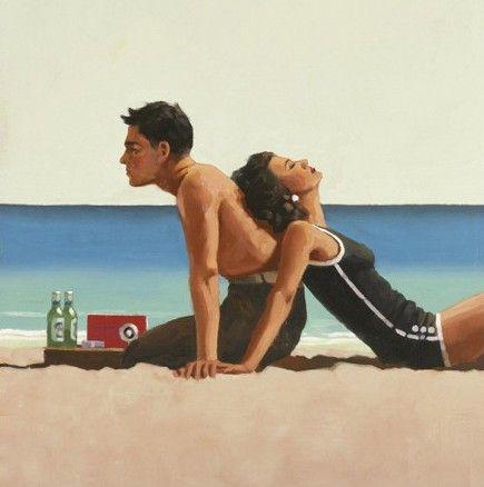 Jack Vettriano - Beach Lovers