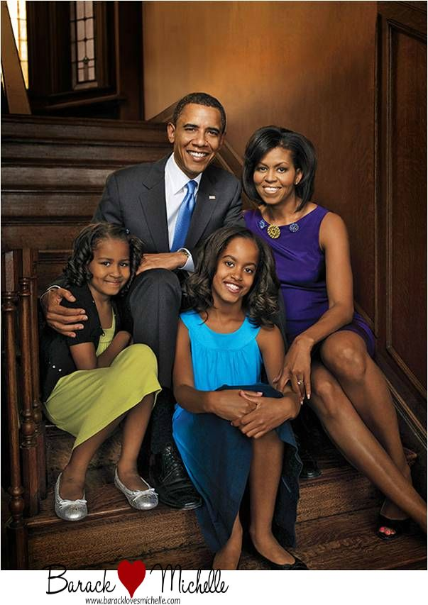 President Barack Obama and The First Family