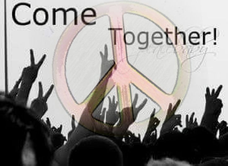 """""""Come Together"""" ✌Peace Sign Hippie Slogans"""