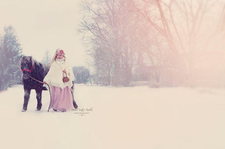 winter, snowflake, snow, white, rose, hair, light, vintage, pony, csutafoto
