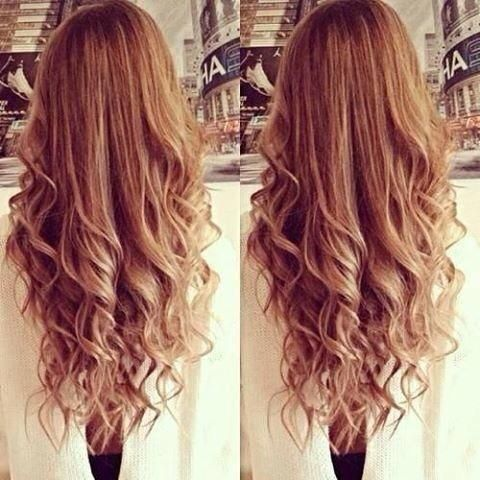 How to get loose curls for long hair.