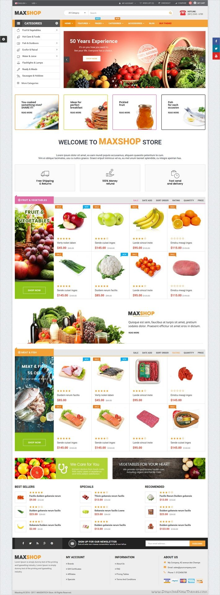 maxshop is a clean and elegant design html5 bootstrap template for food shop