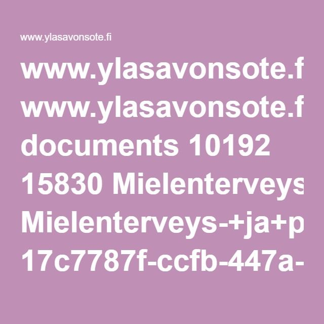 www.ylasavonsote.fi documents 10192 15830 Mielenterveys-+ja+p%C3%A4ihdesuunnitelma+2016-2020.pdf 17c7787f-ccfb-447a-85fe-d6792326c887