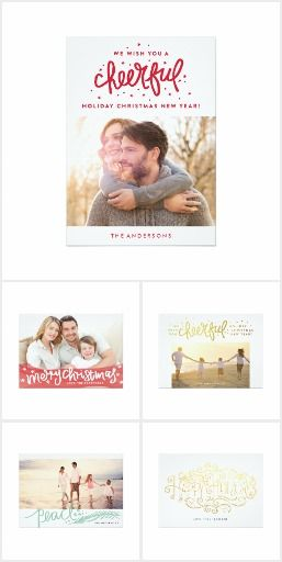 Lettering Holiday Cards #zazzle #phrosnerasdesign #lettering #holiday #handletter #gold #holidaycard #christmascard #photocard