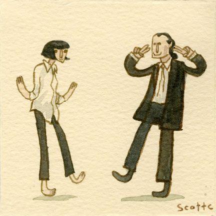 Pulp fiction. Desenhos sobre filmes famosos. #draw
