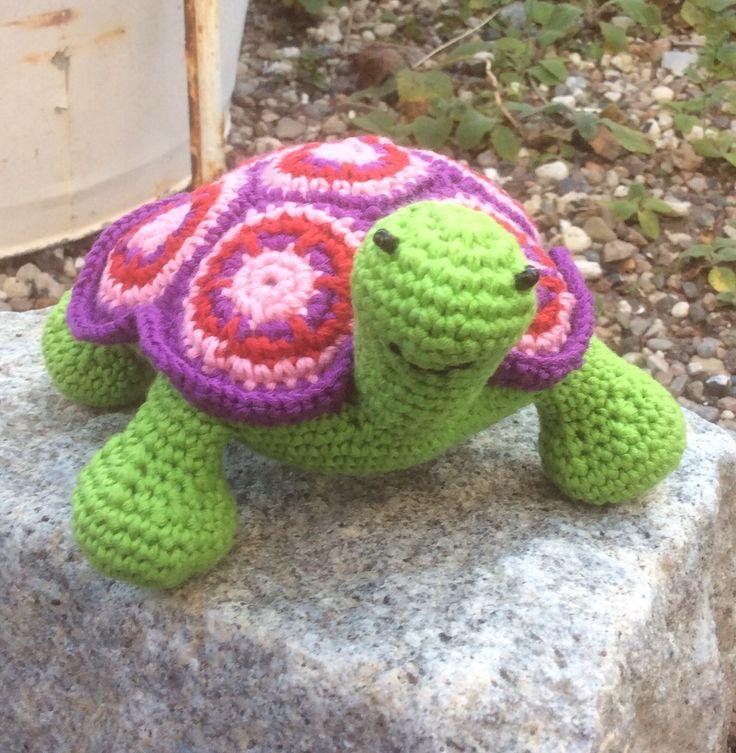 Hæklet skildpadde