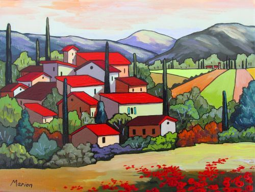 Red roofs by Louise Marion