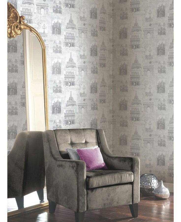 This beautiful Paris Collage Wallpaper in soft grey tones will look great as a feature wall or when used to decorate a whole room! Free UK delivery available