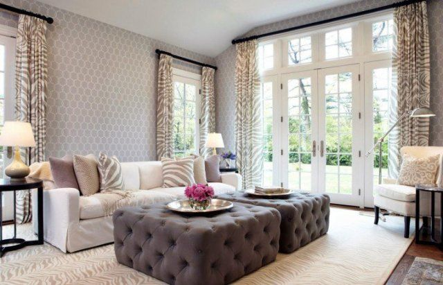 Very comfortable sofa and tufted tables for your interior desin of living room ideas
