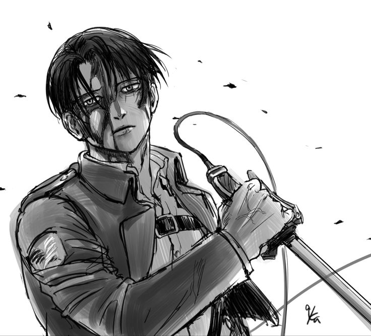 You can save the black and white anime wallpaper aot here. Pin by Gavi :) on Levi Ackerman♥️ in 2020 | Attack on ...