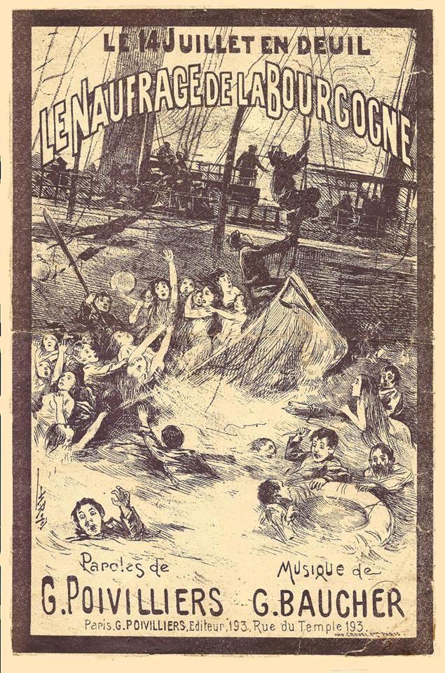 Partitura musical de Le naufrage de La Bourgogne .