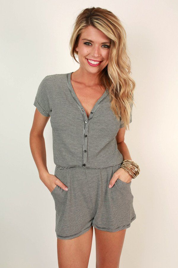 Santa Barbara Sightseeing Stripe Romper
