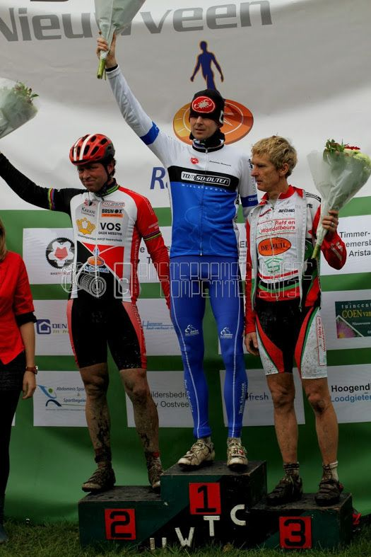 First place muddy cyclocross Nieuwveen