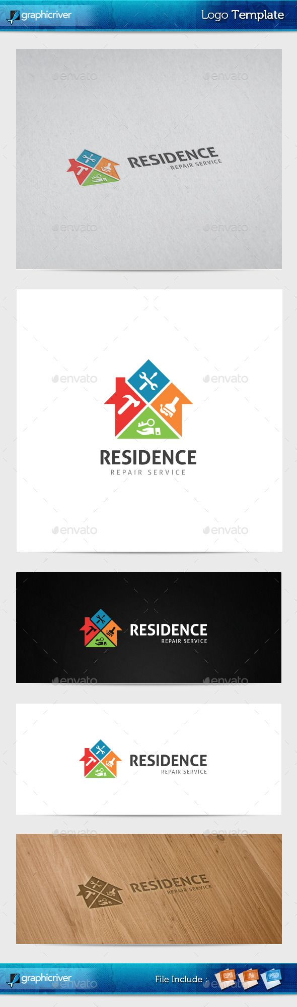 31 best handyman logo images on pinterest handyman logo logo residence repair logo template flashek Images