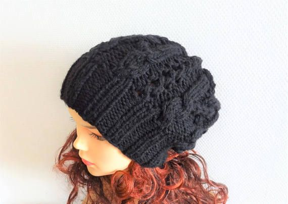 Unisex Big Baggy Hat Winter Teen Fashion Chunky Knit Slouchy