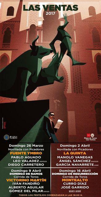 Bullfighting tickets. Tickets for bullfights in Madrid and Sevilla: Madrid Bullfight poster