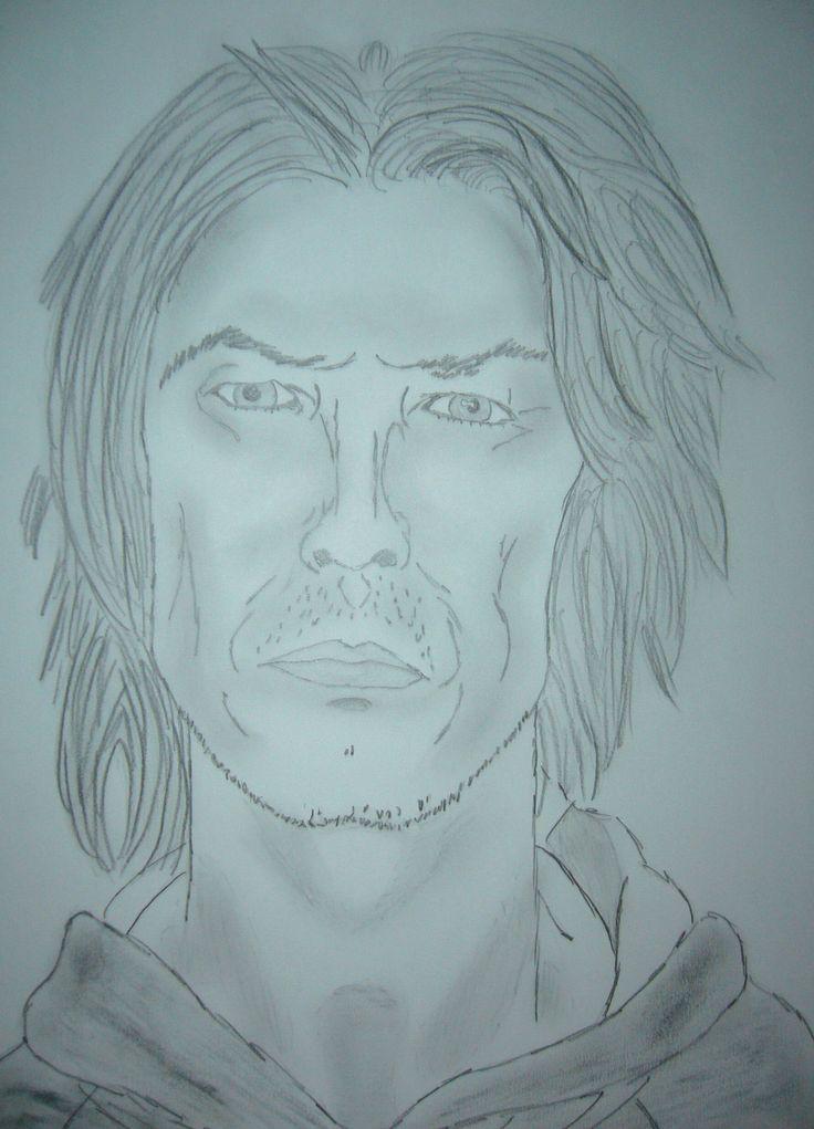 R.I.P. David Bowie, 1947-2016 (My old David Bowie portrait)