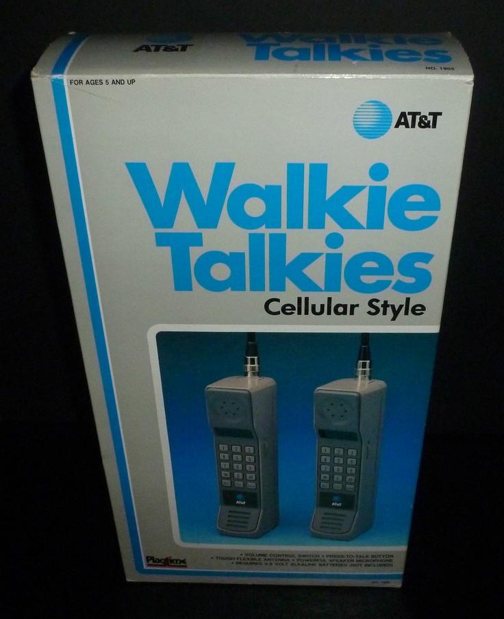 Vintage 1988 AT Playtime Toy Walkie Talkies