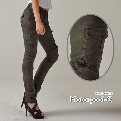 Loving the sexy regular pants look to these motorcycle pants