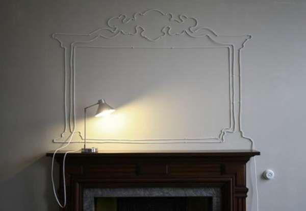 De l'art mural avec un fil électrique