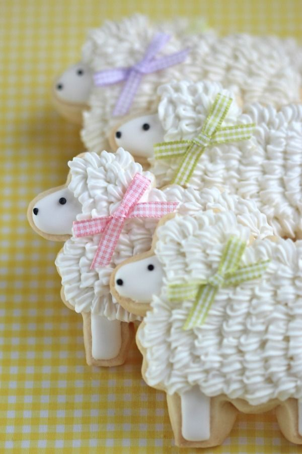 Very cute, I love sheep. They would  be prettier and cuter without the bows, and served on a silver tray-Easter