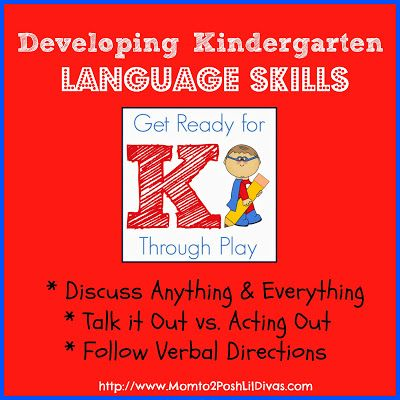 Developing Language Skills for Kindergarten Readiness - it is essential! Post details why and shares how to incorporate language building easily into your every day.