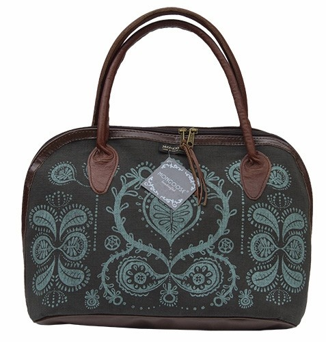 MONGOOSE LUCA BAG SEED TEAL AND CHARCOAL PRINT