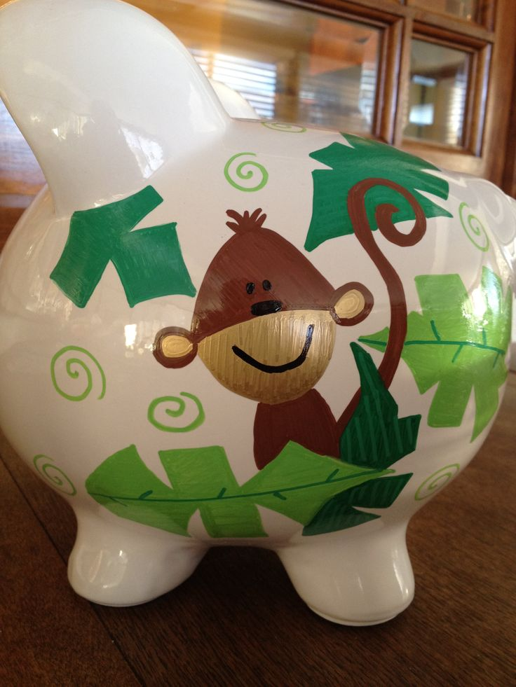 192 Best Hand Painted Piggy Bank Images On Pinterest
