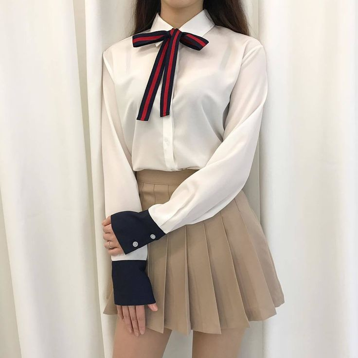 Korean fashion. Style skirt outfits like you would be comfortable wearing wearing it skirt lenght wise.