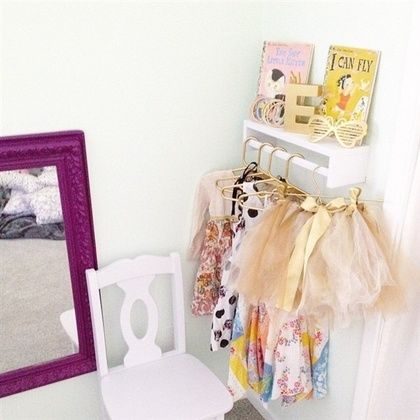 Such a great idea! Turn the Bekvam spice rack ($4) upside down for an adorable little dress up station.